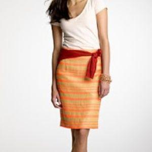 J.Crew Collection Delfine Pencil Skirt Pink Tan